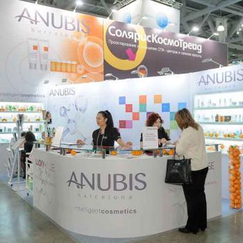 Stand de Anubis Cosmetics en la feria Spring Intercharm (Móscú)